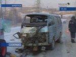 ДТП в Иркутске: при столкновении маршрутки с трактором пострадали 4 человека